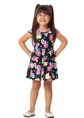 vestido infantil feminino frutas preto alenice 44350 8244 1