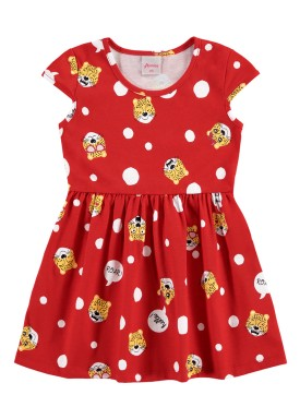 vestido infantil feminino hello vermelho alenice 44350