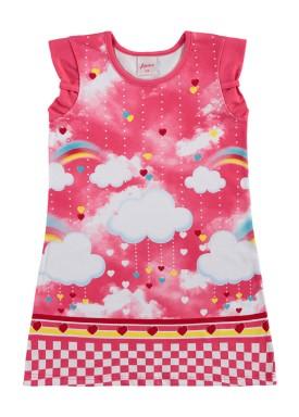vestido infantil feminino nuvens rosa alenice 44362 1