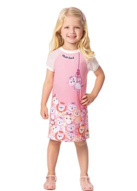 vestido infantil feminino plush rosa alenice 44361 1