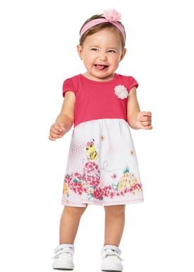 vestido bebe menina abelhinha pink alenice 40911 3