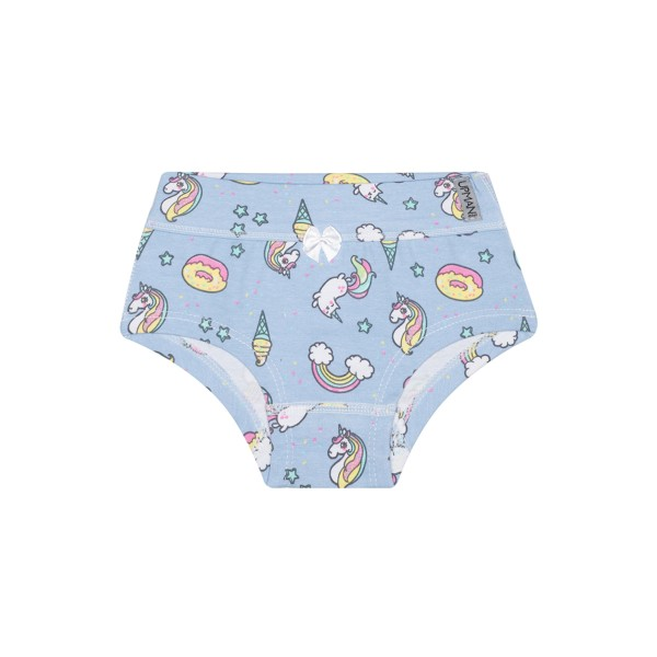 calcinha infantil feminina unicornios azul upman mini 464c5