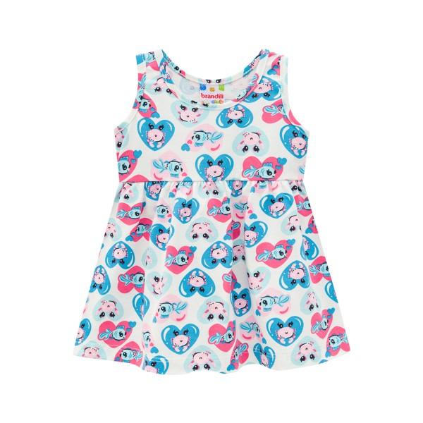 vestido bebe feminino love sea natural brandili 34291