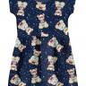 vestido infantil feminino ursinhos marinho brandili 34604