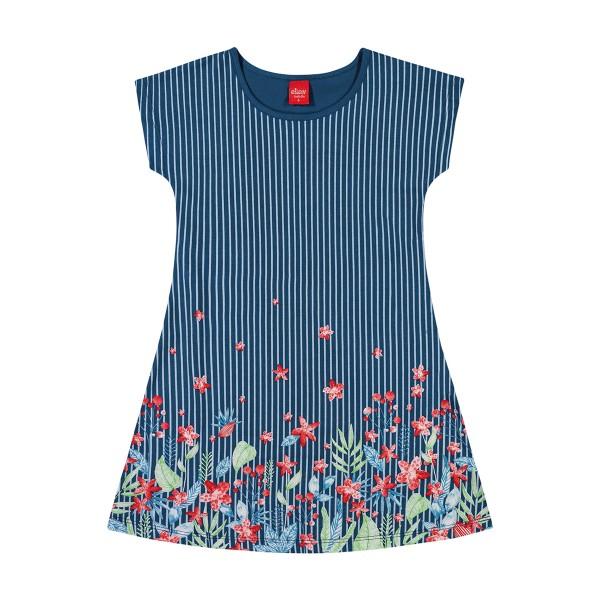 vestido infantil feminino flores marinho elian 251347