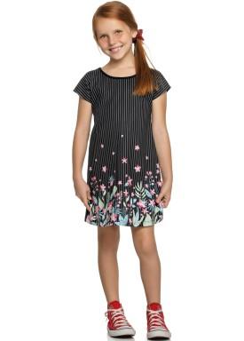 vestido infantil feminino flores preto elian 251347 1