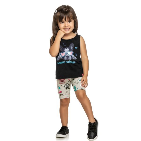 conjunto infantil feminino bulldogs preto elian 231392 1