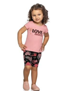 conjunto infantil feminino love rosa elian 231380 1