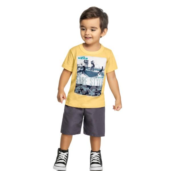 conjunto infantil masculino freestyle amarelo elian 221078 1