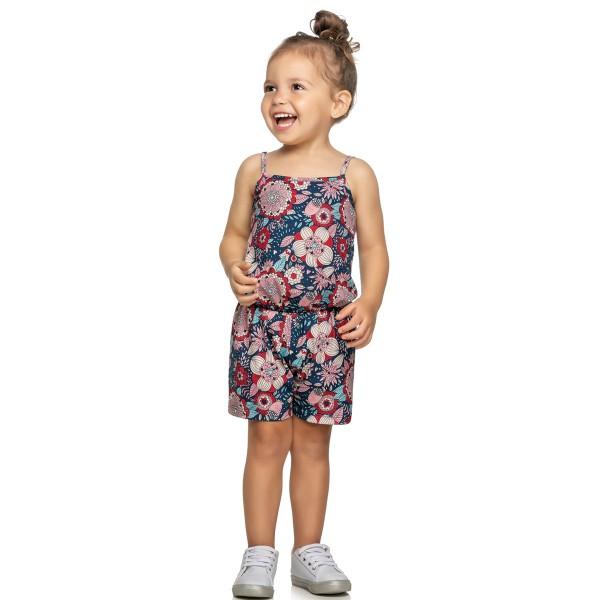 macaquinho infantil feminino floral marinho elian 231398 1