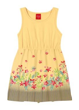 vestido infantil feminino flores amarelo elian 231400