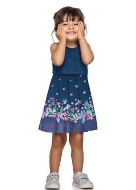 vestido infantil feminino flores marinho elian 231400 1