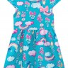 vestido infantil feminino flores azul brandili 34185 2