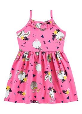 vestido infantil feminino tropical rosa alenice 44349