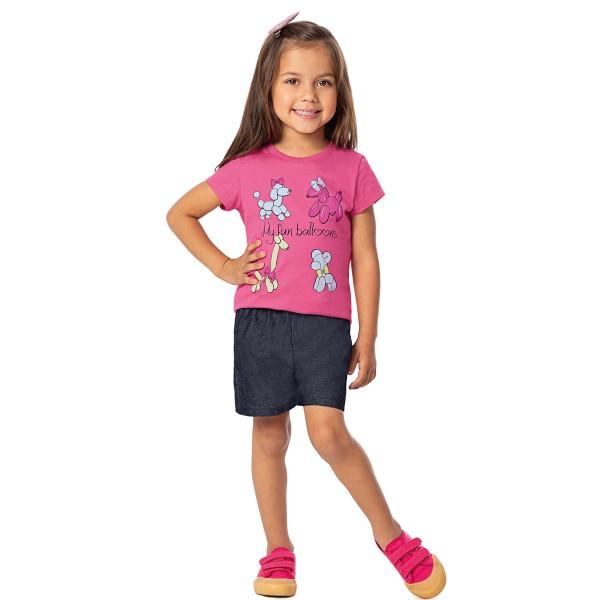 conjunto infantil feminino balloons rosa alenice 44356 1