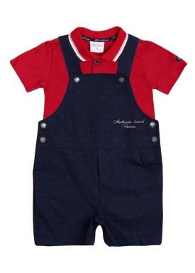 conjunto jardineira polo bebe masculino marinho paraiso 9714 1