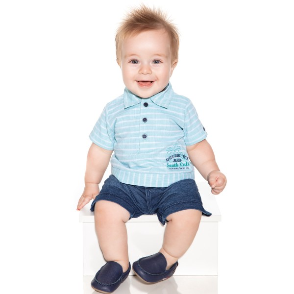 macacao meia manga bebe masculino south cali verde paraiso 9712 1