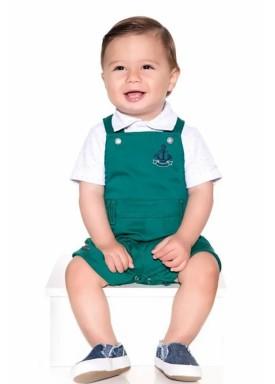 conjunto jardineira polo bebe masculino verde paraiso 10122 1