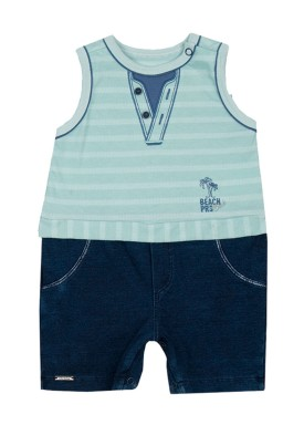 macacao banho sol bebe masculino beach club verde paraiso 9728