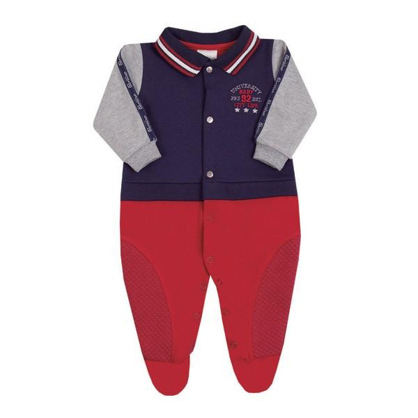 macacao longo bebe masculino city life vermelho paraiso 10131