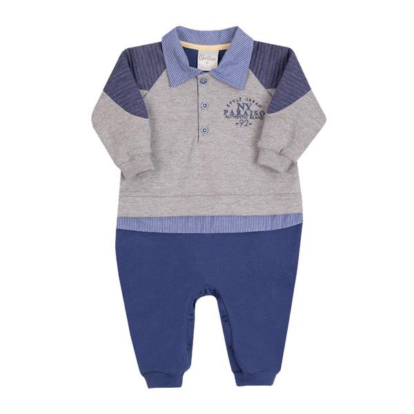 macacao longo bebe masculino style azul paraiso 10137