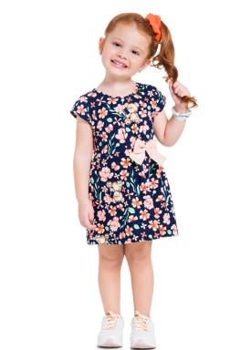 vestido infantil feminino floral marinho 34184 1