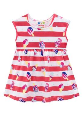 vestido infantil feminino sorvete vermelho 34290
