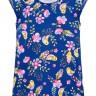 vestido infantil feminino flores azul 34295