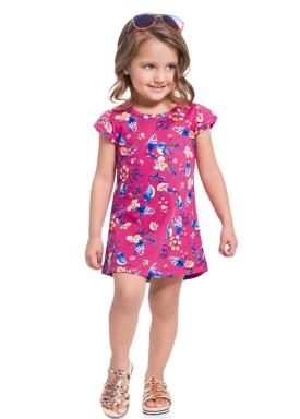 vestido infantil feminino flores rosa 34295 1