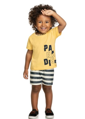 conjunto infantil masculino paradise amarelo elian 221074 1