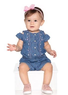 macacao meia manga bebe menina jeans paraiso 10575 1