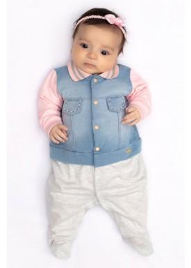 macacao longa bebe menina denim mescla paraiso 10148 1