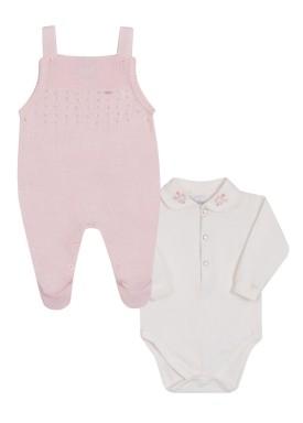 conjunto macacao body bebe feminino rosa paraiso 10145 1