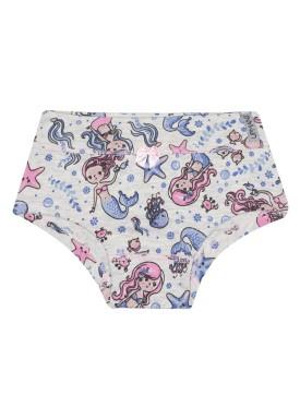 calcinha infantil feminina sereias mescla upman mini 464c5