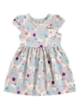 vestido bebe feminino flores azul marlan 60386