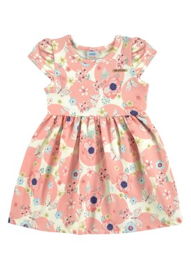vestido bebe feminino flores rosa marlan 60386