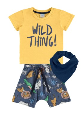 conjunto bebe masculino safari amarelo marlan 60404 1