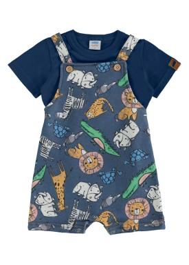 conjunto bebe masculino safari marinho marlan 60410