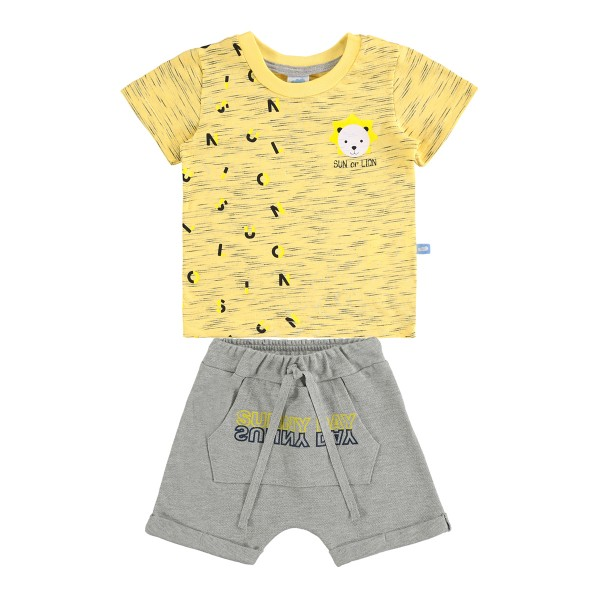 conjunto bebe masculino lion amarelo marlan 60415