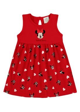vestido bebe feminino minnie vermelho marlan d6148