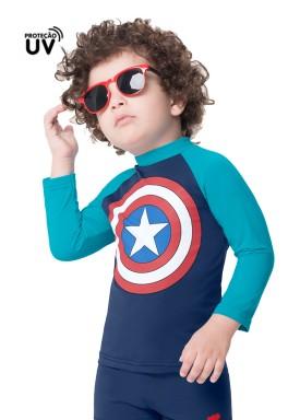 camiseta infantil masculina capitao america marinho marlan a6017 1