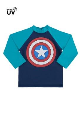 camiseta infantil masculina capitao america marinho marlan a6017 2