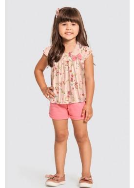 conjunto infantil feminino floral salmao alakazoo 47221 1