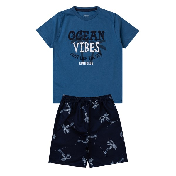 conjunto infantil masculino ocean vibes azul kiiwi 1