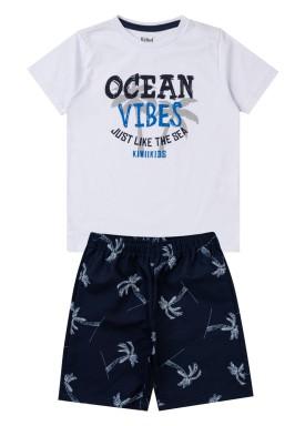 conjunto infantil masculino ocean vibes branco kiiwi 1
