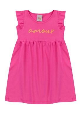vestido infantil feminino amour pink kiiwi