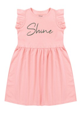 vestido infantil feminino shine rosa kiiwi
