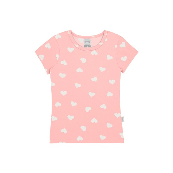 blusa infantil feminina coracoes salmao alakazoo 47257