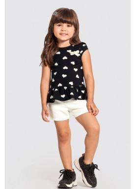 conjunto infantil feminino coracoes preto alakazoo 47227 1