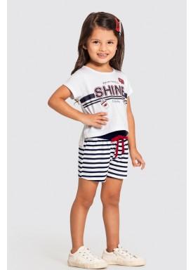 conjunto infantil feminino shine branco alakazoo 47230 1